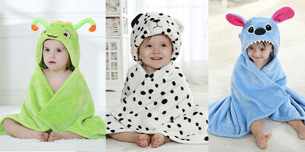 Mantita de bebé con capucha barata