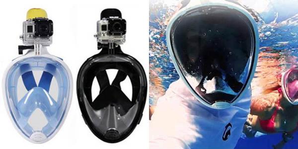 Máscara de buceo snorkel en varios colores