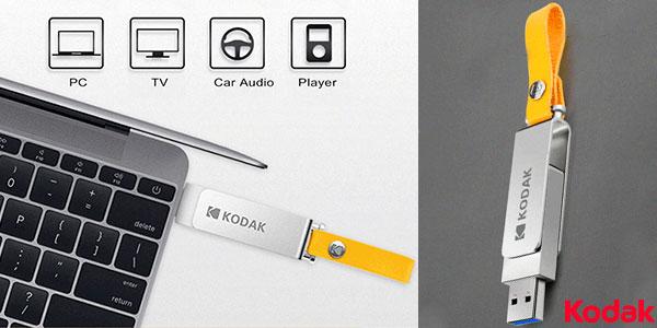 Memoria USB 3.1 Kodak K133 de 128 GB barata