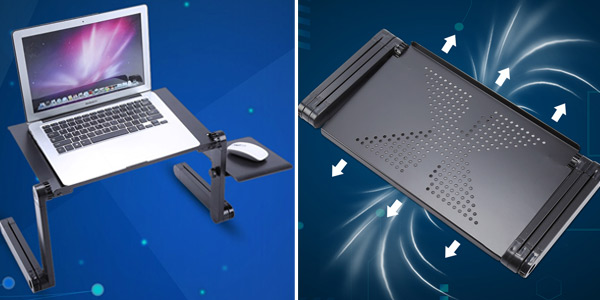 Mesa auxiliar ajustable Topincn para portátil chollazo en AliExpress
