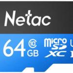 Tarjeta de memoria microSDXC Netac C10 de 64 GB