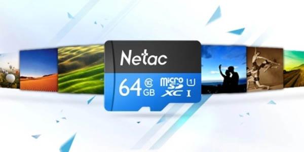 Tarjeta microSDXC Netac C10 de 64 GB barata