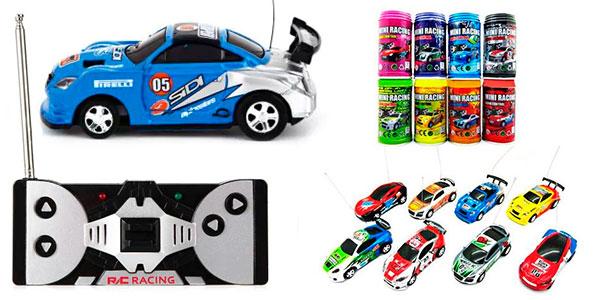 Micro coche teledirigido en lata de refresco en oferta