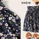 Mini Falda Shein tipo boho de línea A con cintura elástica y estampado floral barata en AliExpress