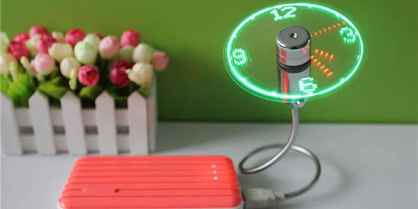 Mini-reloj USB con reloj LED barato