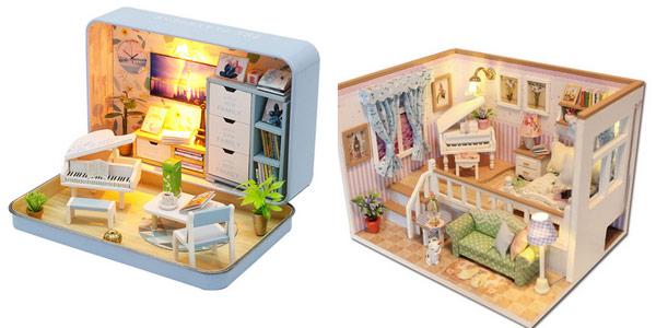 Miniaturas para montar DIY Cute Room baratas en AliExpress