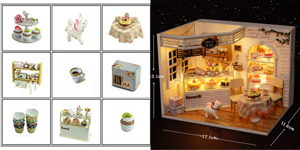 Miniaturas para montar DIY Cute Room chollo en AliExpress