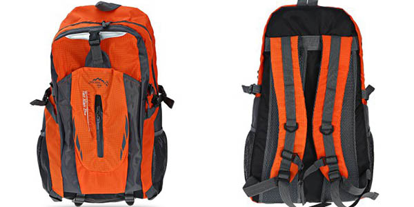 Mochila de nylon naranja de 40L chollo en GearBest