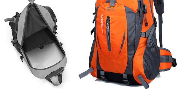 mochila para excursiones con comoda espaldera y asas acolchadas