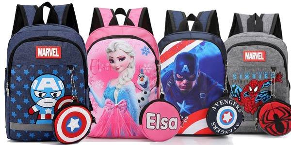 Mochilas escolares Marvel baratas en AliExpress