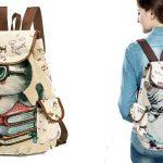 Mochila de lona Miyahouse con diseño de gatitos chollo en AliExpress
