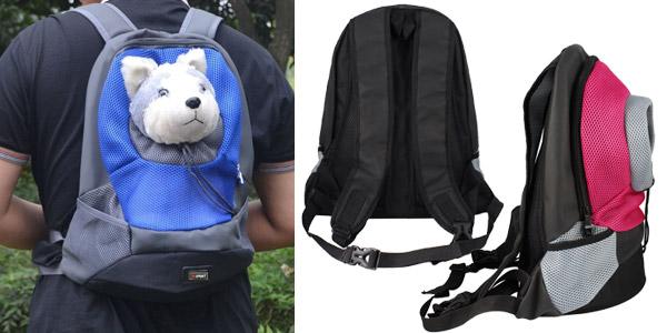 Mochila para transportar mascota chollo en AliExpress