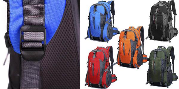 mochila de senderismo con agarres exteriores y relacion calidad precio brutal
