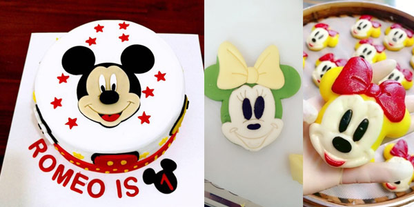 Moldes de Mickey o Minnie para fondant chollo en AliExpress
