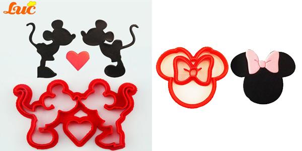 Moldes de Mickey o Minnie para fondant baratos en AliExpress