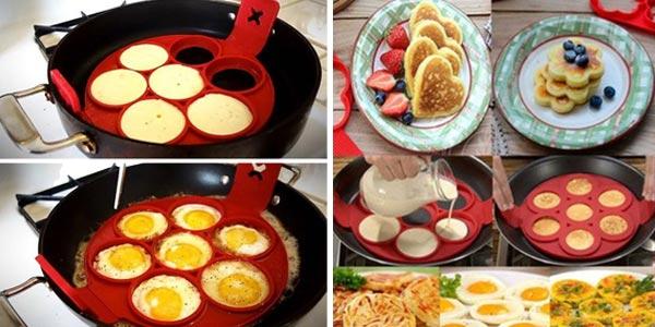 Molde de silicona para hacer tortitas o huevos con formas chollazo en AliExpress