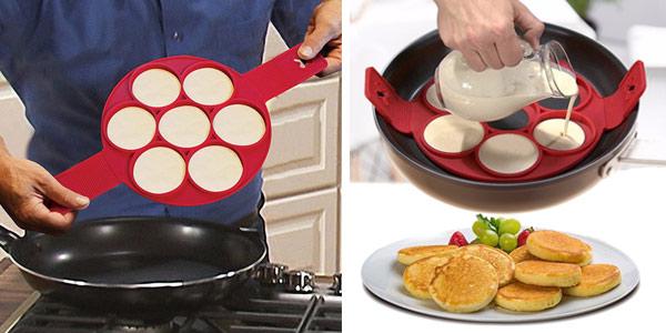 Molde de silicona para hacer tortitas o huevos con formas chollo en AliExpress