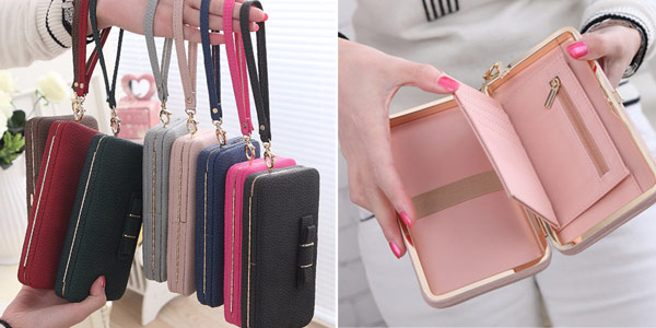 Monedero rectangular para mujer barato en AliExpress