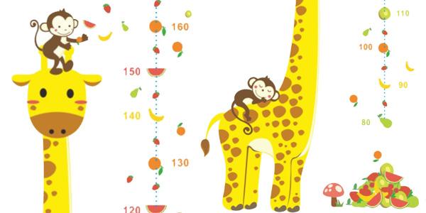 Vinilo adhesivo jirafa para medir a los niños chollo en AliExpress