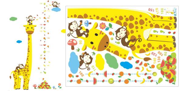 Vinilo adhesivo jirafa para medir a los niños chollazo en AliExpress