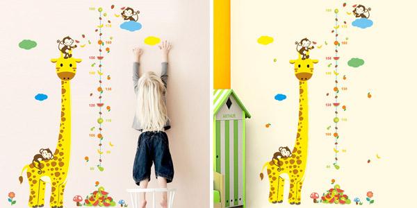 Vinilo adhesivo jirafa para medir a los niños barato en AliExpress