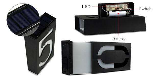 Lámpara de luces LED solares con números chollo en AliExpress