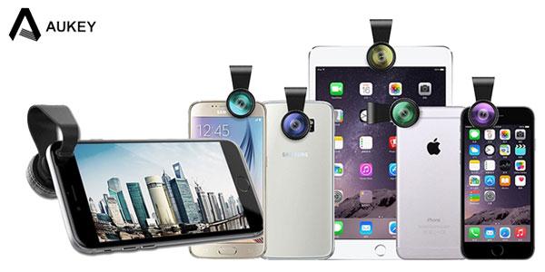 Kit 3 mini-objetivos para smartphone de AUKEY barato en AliExpress