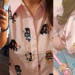 Camisa estampada Sailor Moon para mujer barata