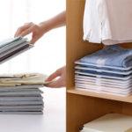 Organizador de camisetas para armario o maleta