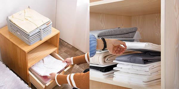 Organizador de camisetas para armario o maleta barato