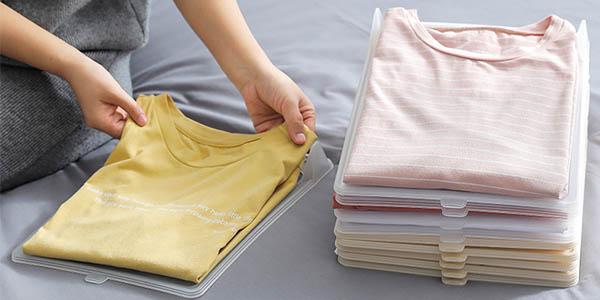 Organizador de camisetas para armario o maleta en AliExpress