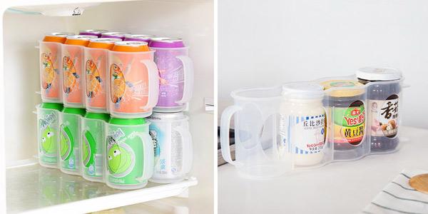 Porta-latas Honana de refresco para poner verticalmente en la nevera chollazo en Banggood