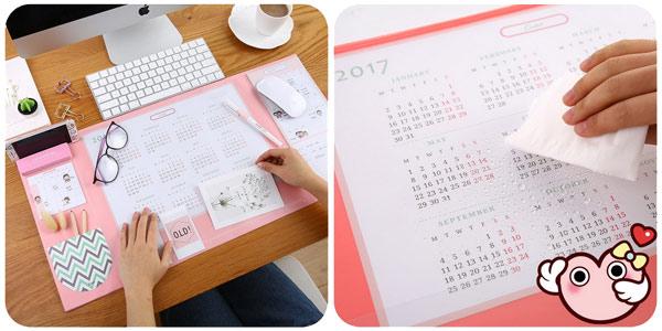 Calendario organizador de escritorio chollazo en AliExpress