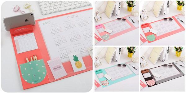 Calendario organizador de escritorio chollo en AliExpress
