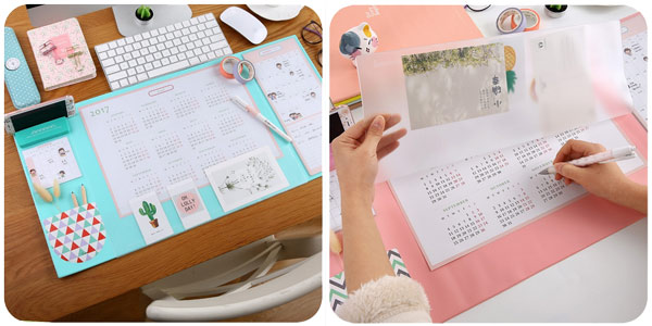 Calendario organizador de escritorio barato en AliExpress