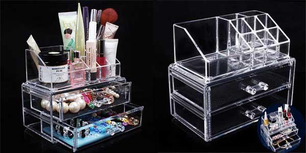 Organizador para maquillaje con varios compartimentos chollo en AliExpress