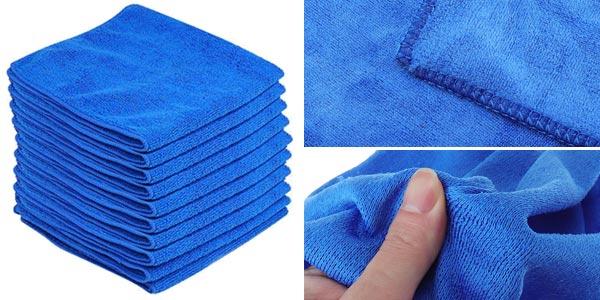 Pack de 10 paños de microfibra 30 x 30 cm barato en Banggood