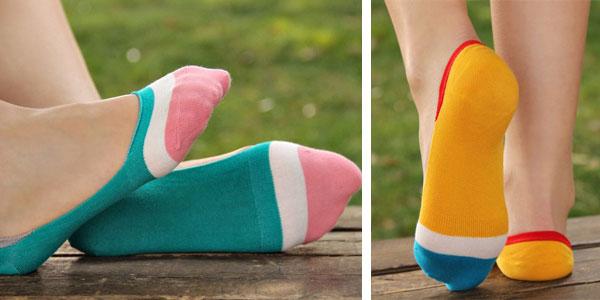 Pack de 10 calcetines invisibles multicolor para mujer chollo en AliExpress