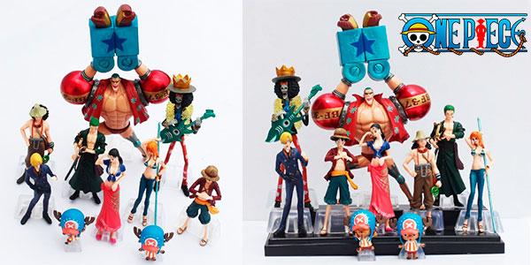 Pack de 10 figuras One Piece en varios tamaños barato