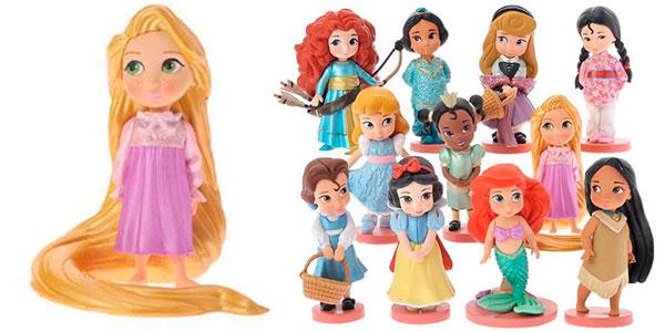 Pack de 11 mini figuras de princesas Disney barato