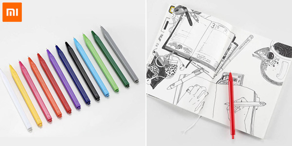 Pack 12 bolígrafos de gel Xiaomi Radical chollo en Zappals