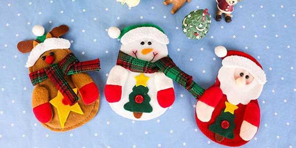 Cubrecubiertos navideños Miss Doggy chollo en AliExpress