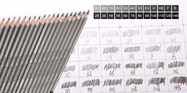 Pack de 12 lápices de dibujo barato
