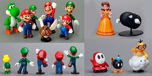 Pack de 18 figuras de Super Mario barato