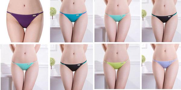 Pack 4 braguitas de talle bajo en varios colores para mujer chollo en AliExpress