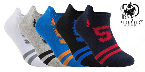 Pack Pierpolo de 5 calcetines de algodón barato