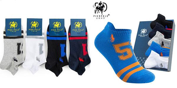Pack Pierpolo de 5 calcetines de algodón rebajado