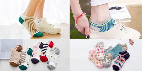 Pack de 5 pares de calcetines tobilleros para mujer rebajados