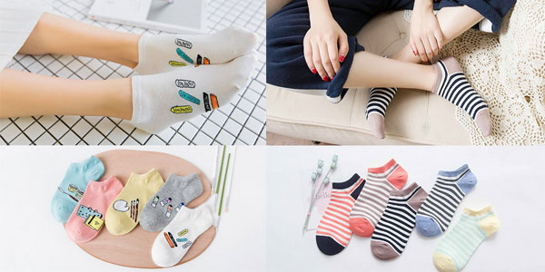 Calcetines tobilleros para mujer en varios modelos