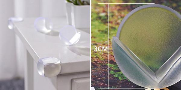 Pack de 5 protectores de silicona para esquinas de muebles chollo en AliExpress